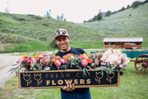 Julio Firetas grows Local Flowers