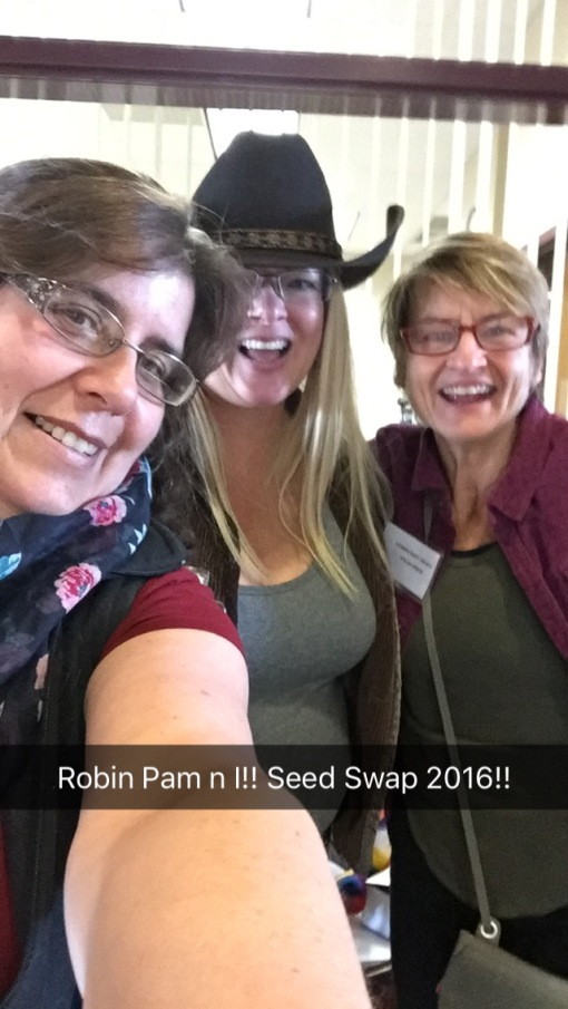 Pam, Robin, and I Save the Seeds Event
