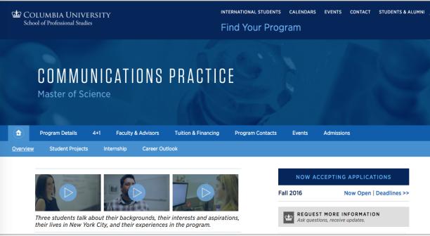 CommunicationsPractice Columbia Universtiy