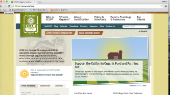 Organic Certification California CCOF
