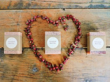 Geranium Red Clay Soap Simply Josephine