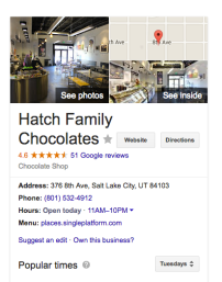 Hatch Family Chocolates SLC