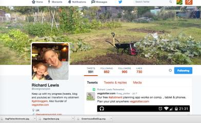 Richard Lewis Twitter Page