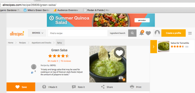 Green Salsa All Recipes