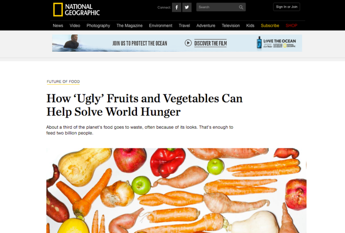 National Geographic Article Ugly Fruits Can Help Solve World Hunger