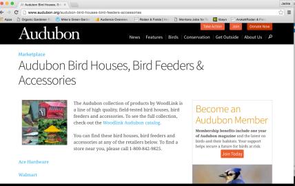 Audubon Bird houses
