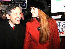Young Love Campaiging with Dennis Kucinich