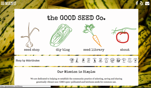 Good Seed Co Website