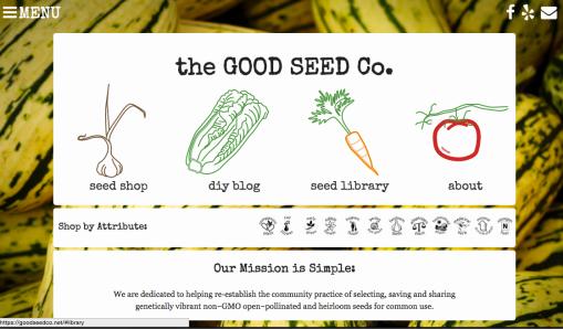 Good Seed Co Website
