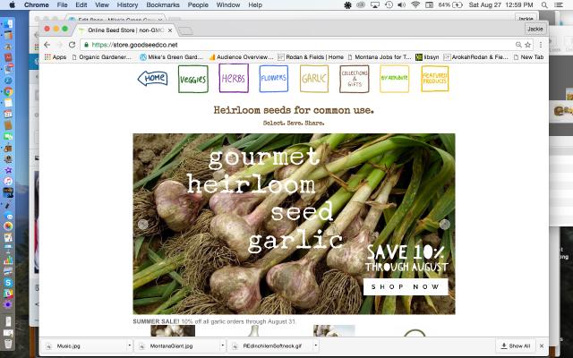 Good Seed Co Gourmet Heriloom Seed Garlic