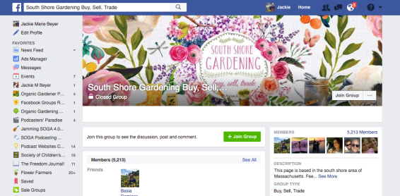 South Shore Gardening FB Group