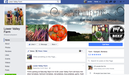 Lower Valley Farm Facebook Page