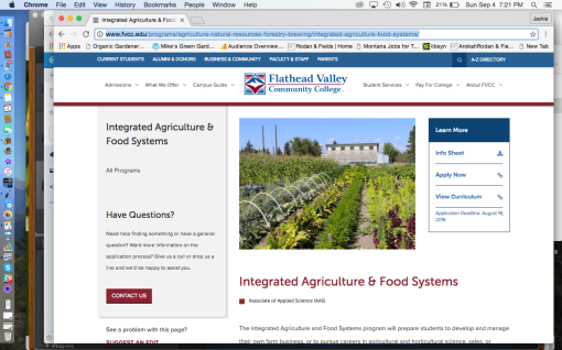 FVCC Integrated Ag & Food Systems