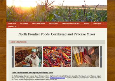 North Frontier Foods Dave Christensen open pollinated corn