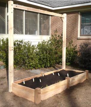Instant Organic Garden trellis bed