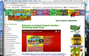 Instant Organic Garden Website