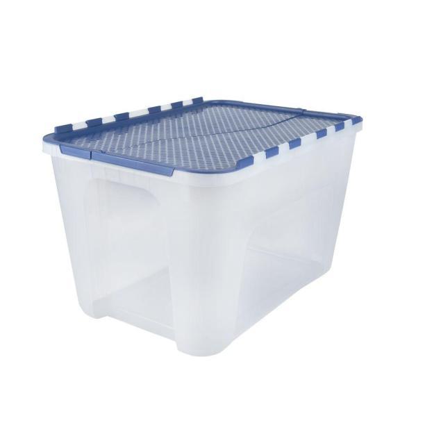 plastic tote bin Home Depot