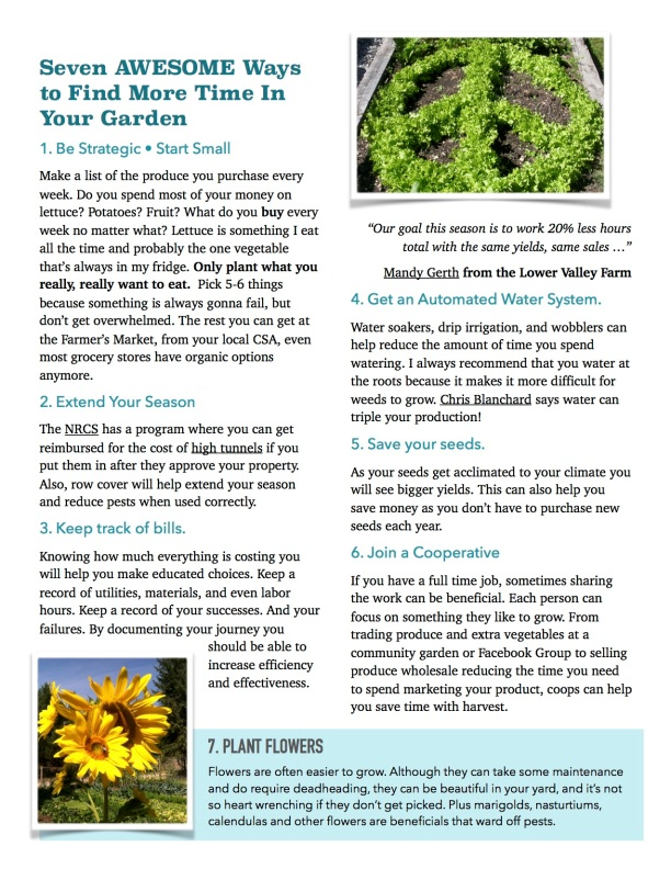 Seven Awesome Ways to Find More Time IN Your Garden