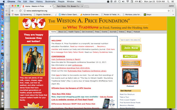 Weston A. Price Foundation Website