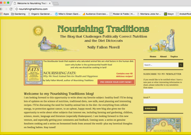 Nourishing Traditions Website