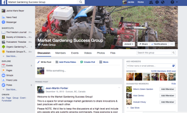 Market Gardener Success Facebook FB Group