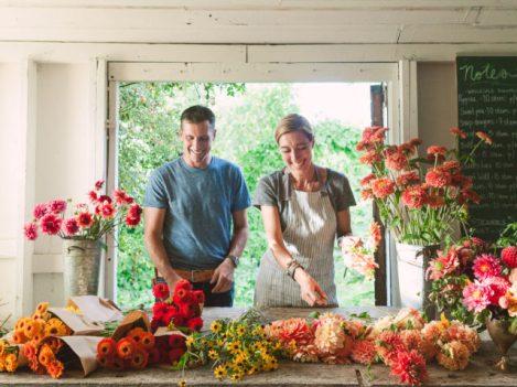 Chris and Erin Benzakein Floret Flower Farm