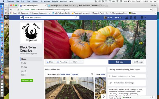 Black Swan Organics Facebook Page