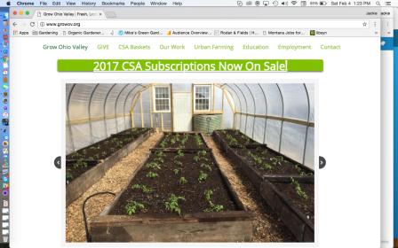 Grow Ohio Valley CSA Subscriptions