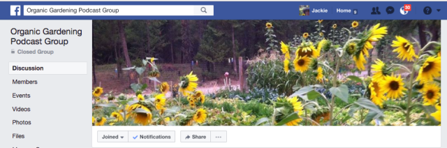 Organic Gardener Podcast Facebook Group
