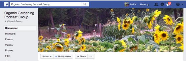 Organic Gardener Podcast Facebook Group