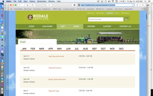 Rodale Institute Calendar