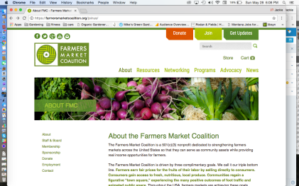 Farmer's Market Coalition About Page