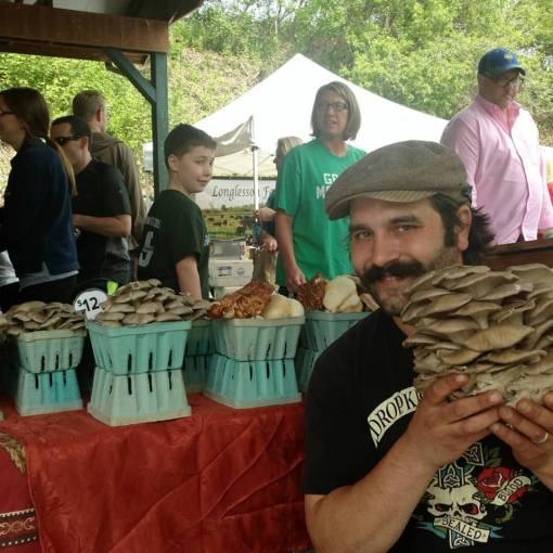 Mushroom Man Saratoga Farmer's Market
