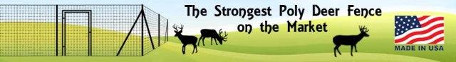 DeerBusters Strongest Poly Deer Fence