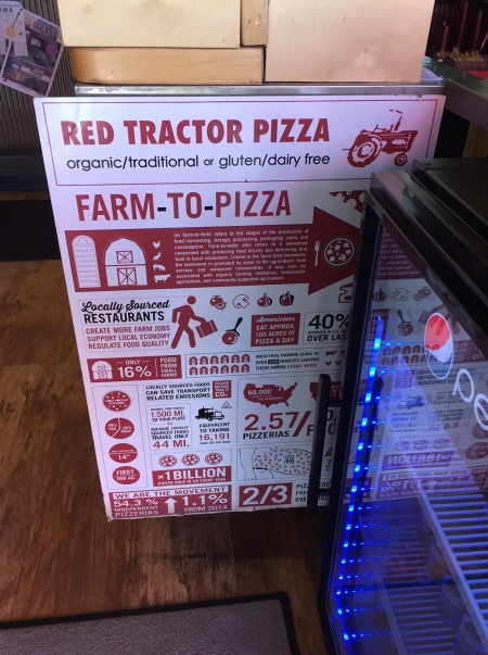 Red Tractor Pizza Farm To Pizza Local Sourced Restaurant