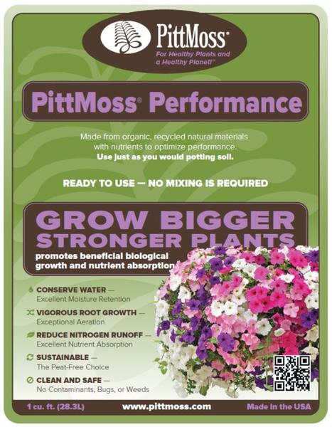 PittMoss Performance Grow Bigger Stronger Plants