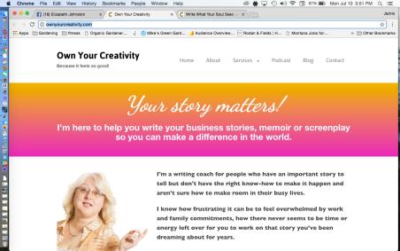 Own Your Creativity Elizabeth Johnston No Small Potatoes