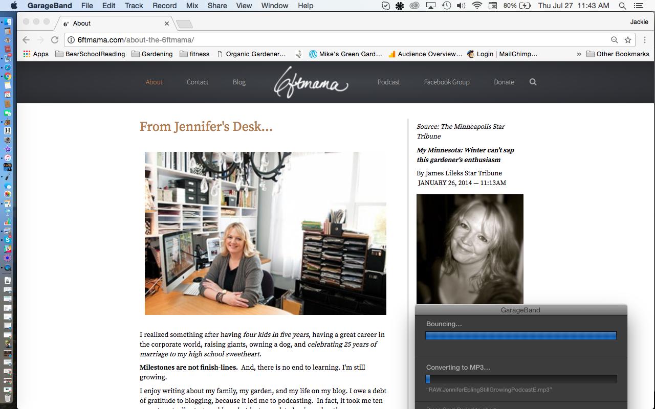 Jennifer Ebling 6' Mama about page