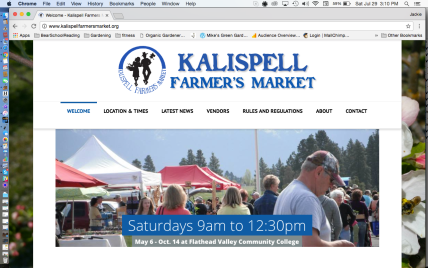 Kalispell Farmer's Market Website