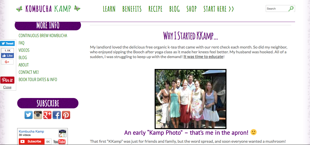 Kombucha Kamp Website