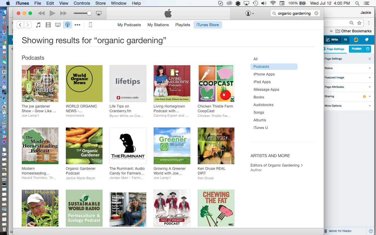iTunes Organic Gardening Podcast Artwork