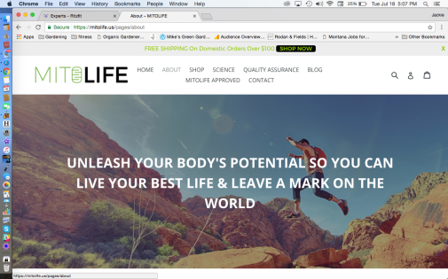 MitoLife Website Page