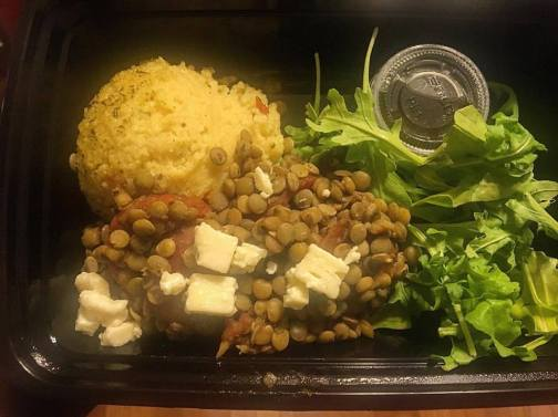 Farm to Temple Mediterranean Lentil meal