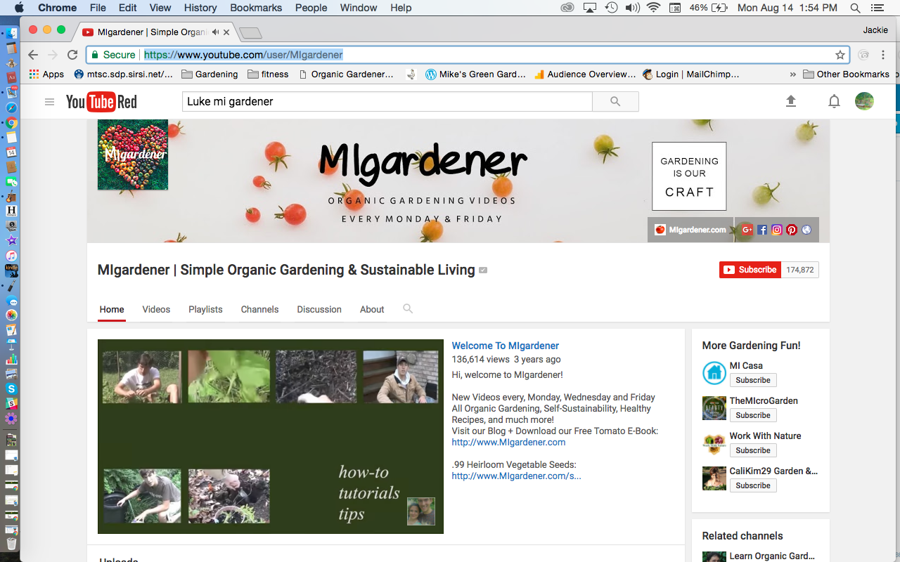 MI Gardener YouTube Channel