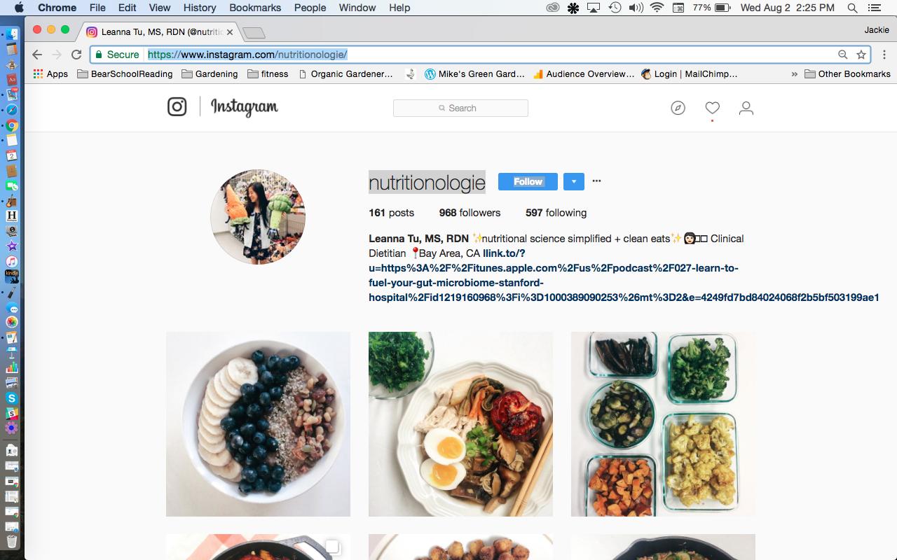 Leanna Tu Nutritionologie Instagram