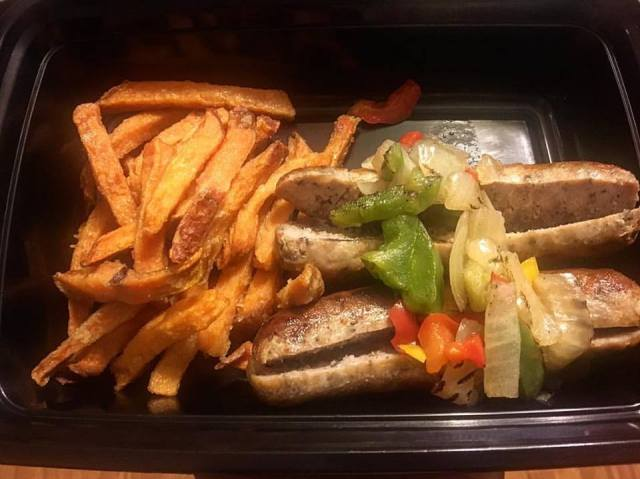 Farm To Table Sausage and Sweet Potato Fries
