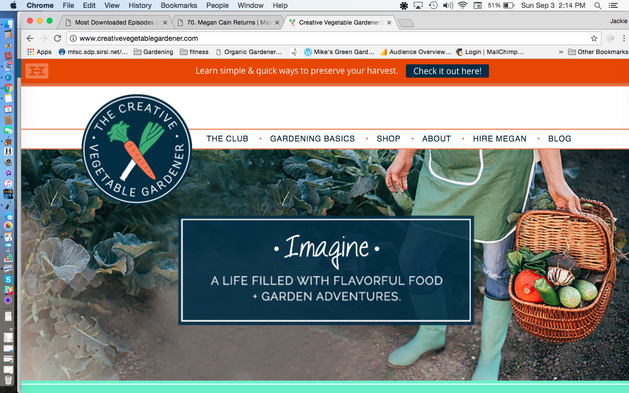 Creative Vegetable Gardener Website