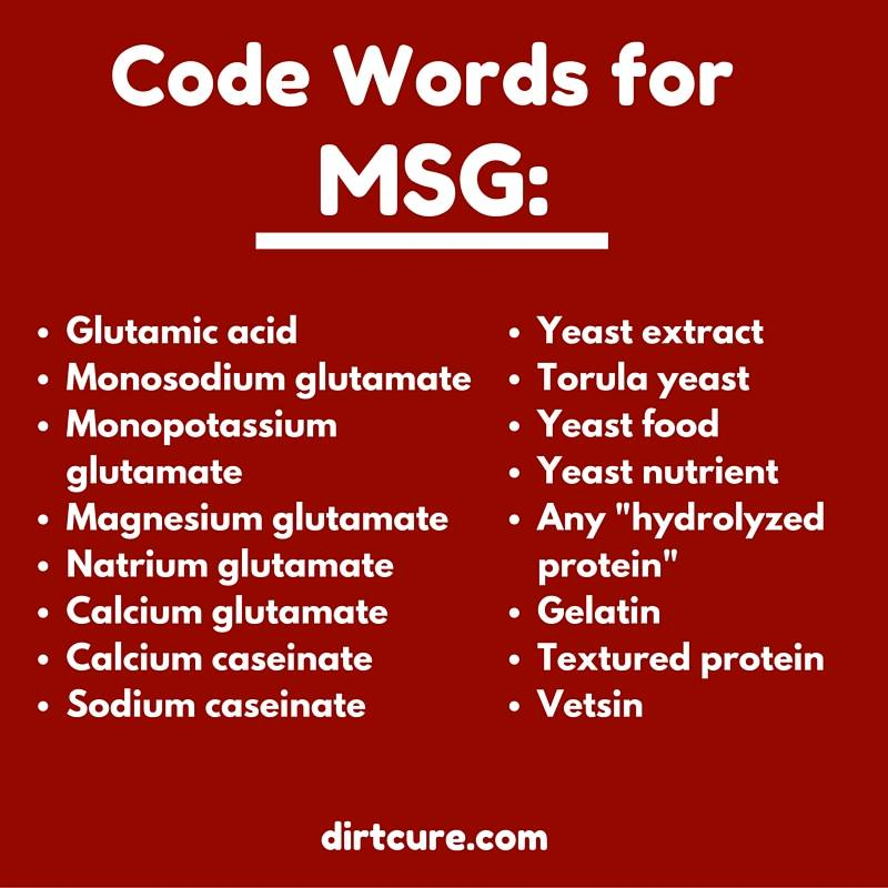 Code Words for MSG