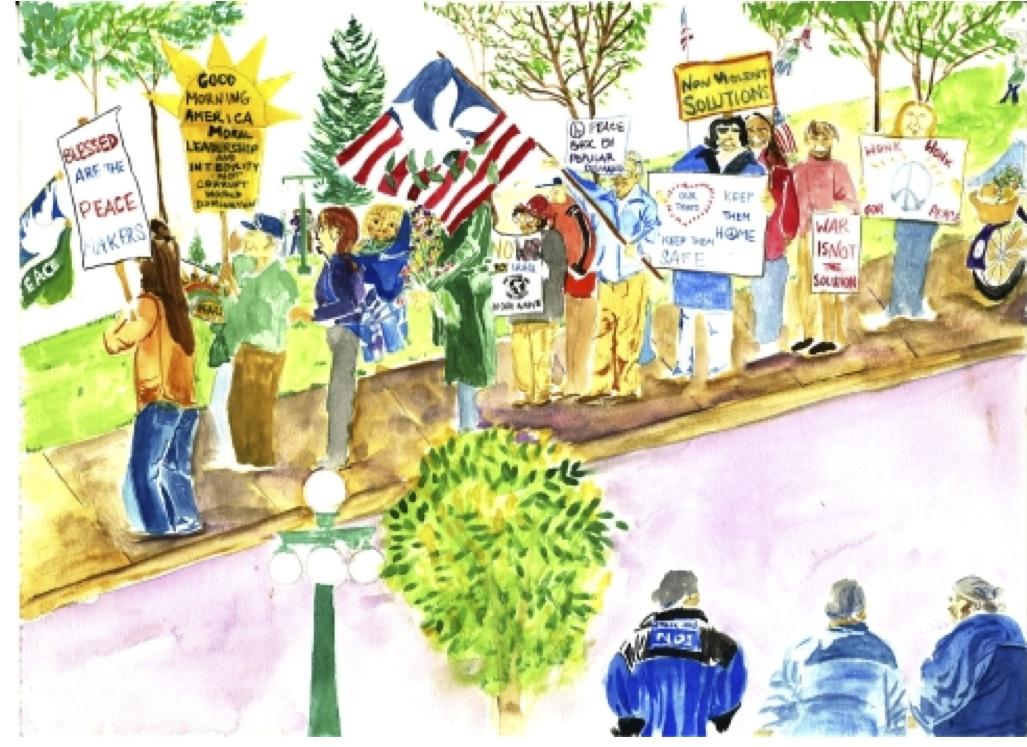 Jeannette Rankin Protestors