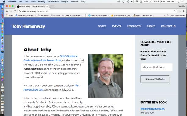 Toby Hemenway Website